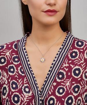 Silver Sun Charm Pendant Necklace