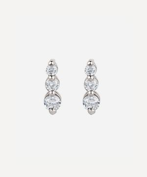 White Gold Shuga Tapering Triple Diamond Stud Earrings