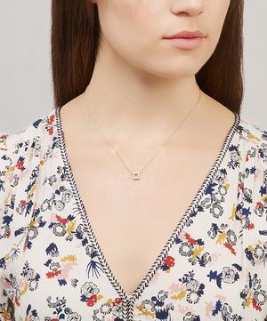 Gold Shuga Open Cube Diamond Pendant Necklace