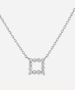 White Gold Shuga Open Cube Diamond Pendant Necklace