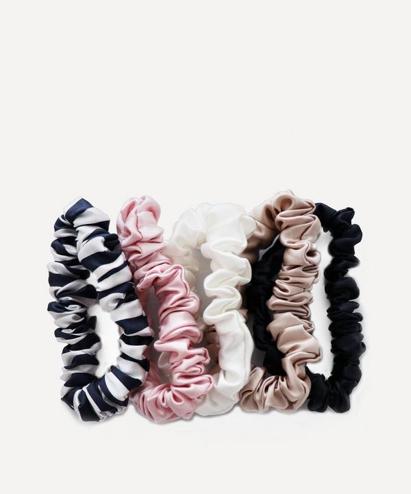 Midi Silk Scrunchies Pack of 5