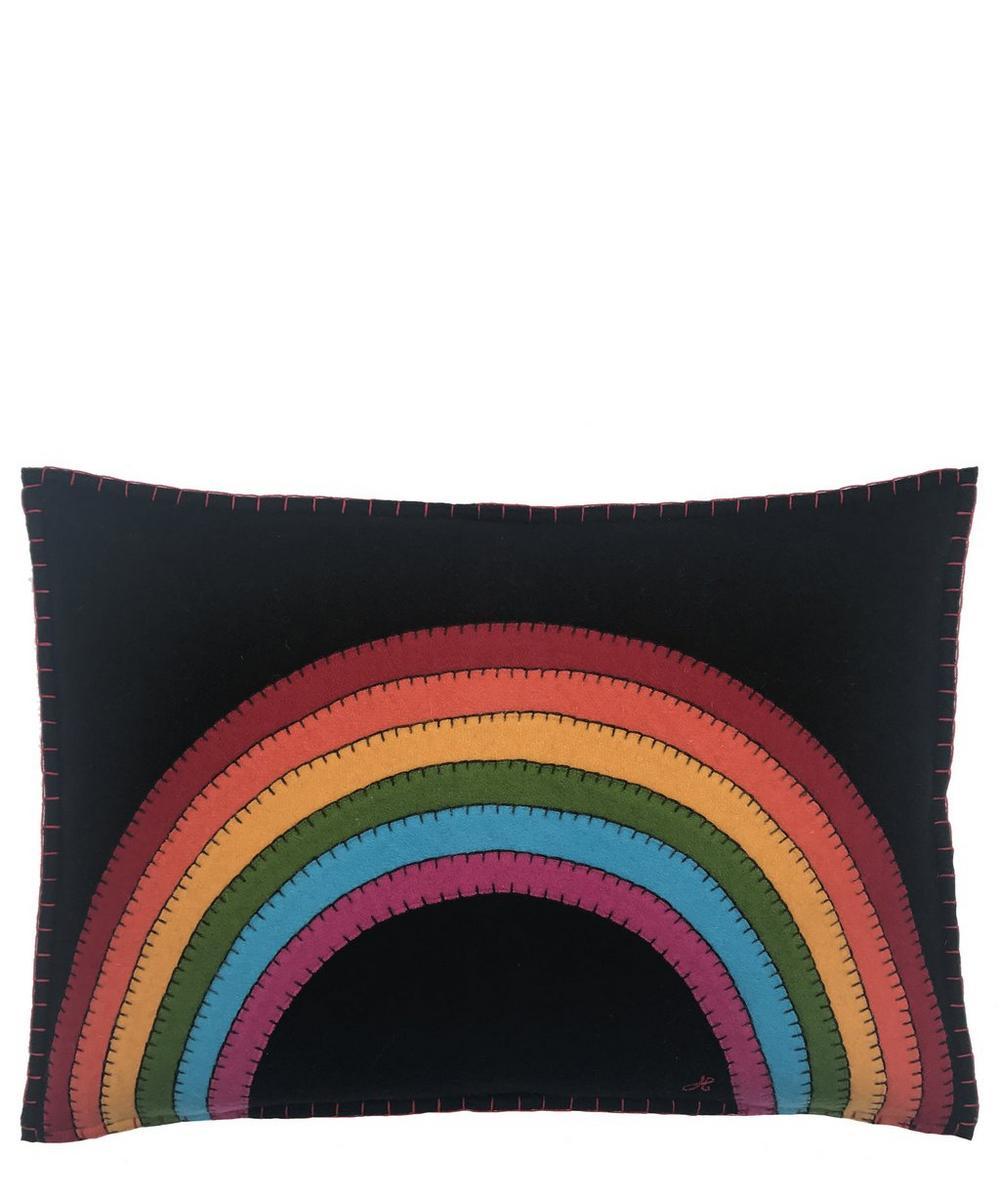 Wool Rainbow Cushion