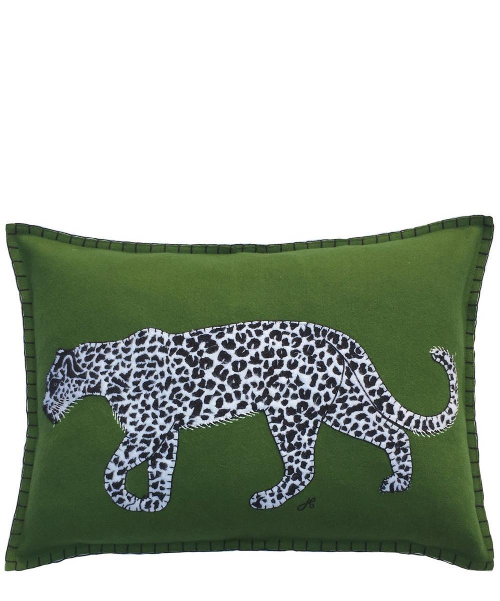 Running Leopard Cushion