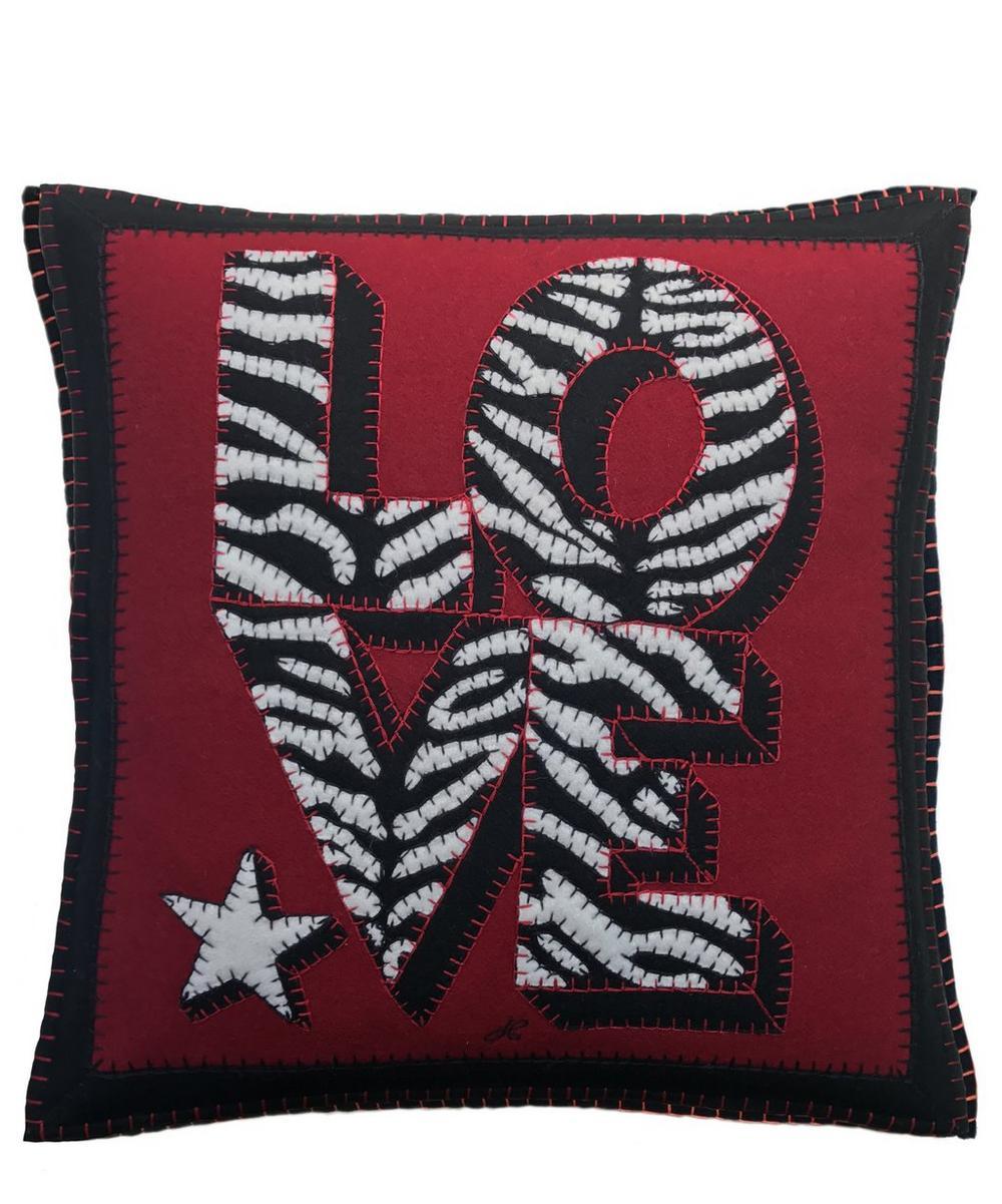 Zebra Star Love Cushion