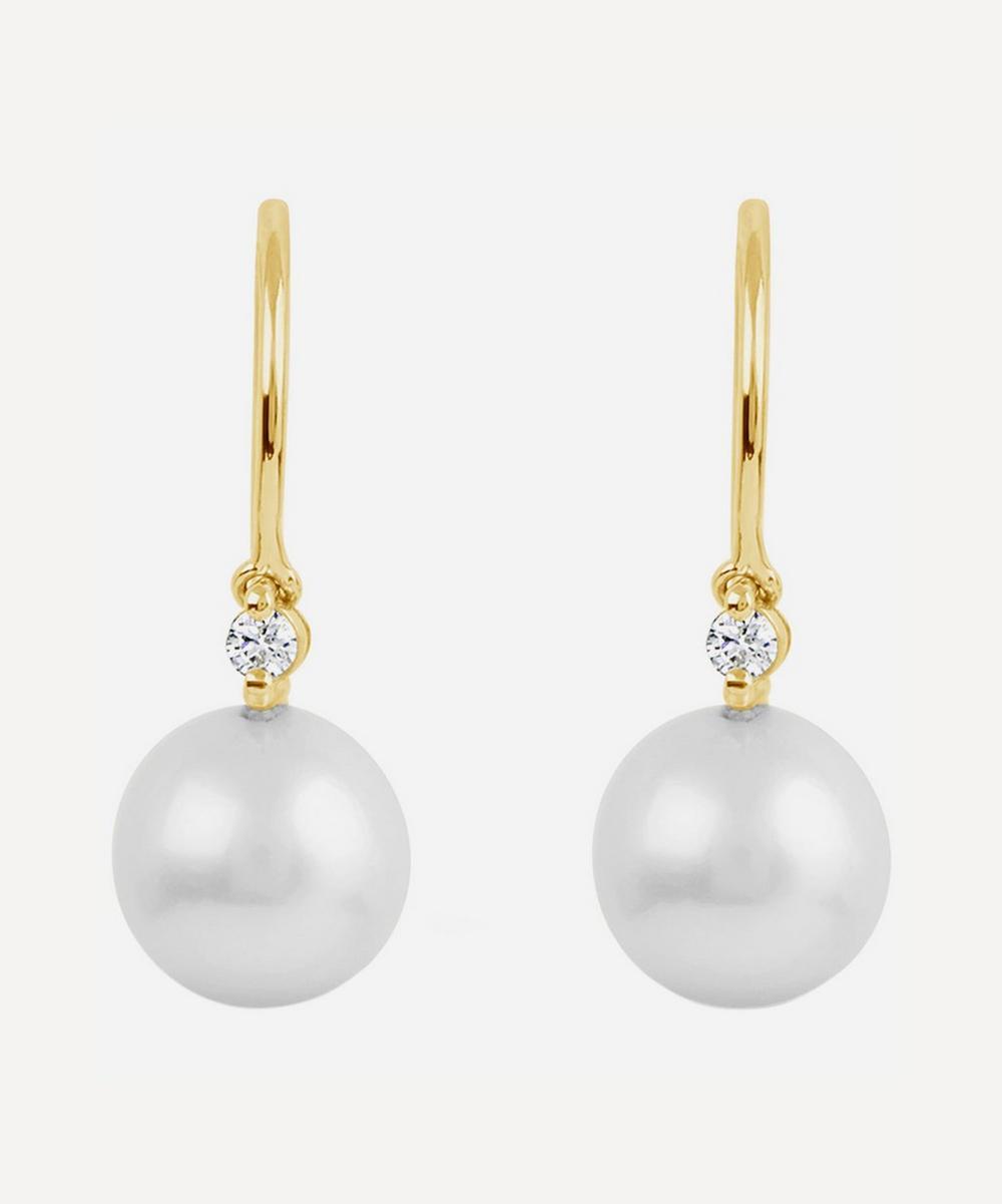Dinny Hall - 14ct Gold Shuga Pearl and Diamond Drop Earrings