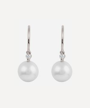 Gold Shuga Pearl and Diamond Drop Earrings