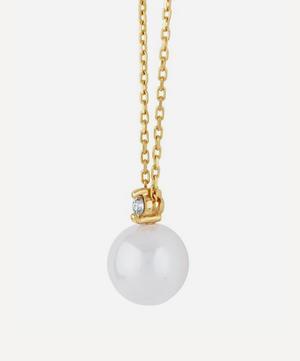 Gold Shuga Pearl and Diamond Pendant Necklace