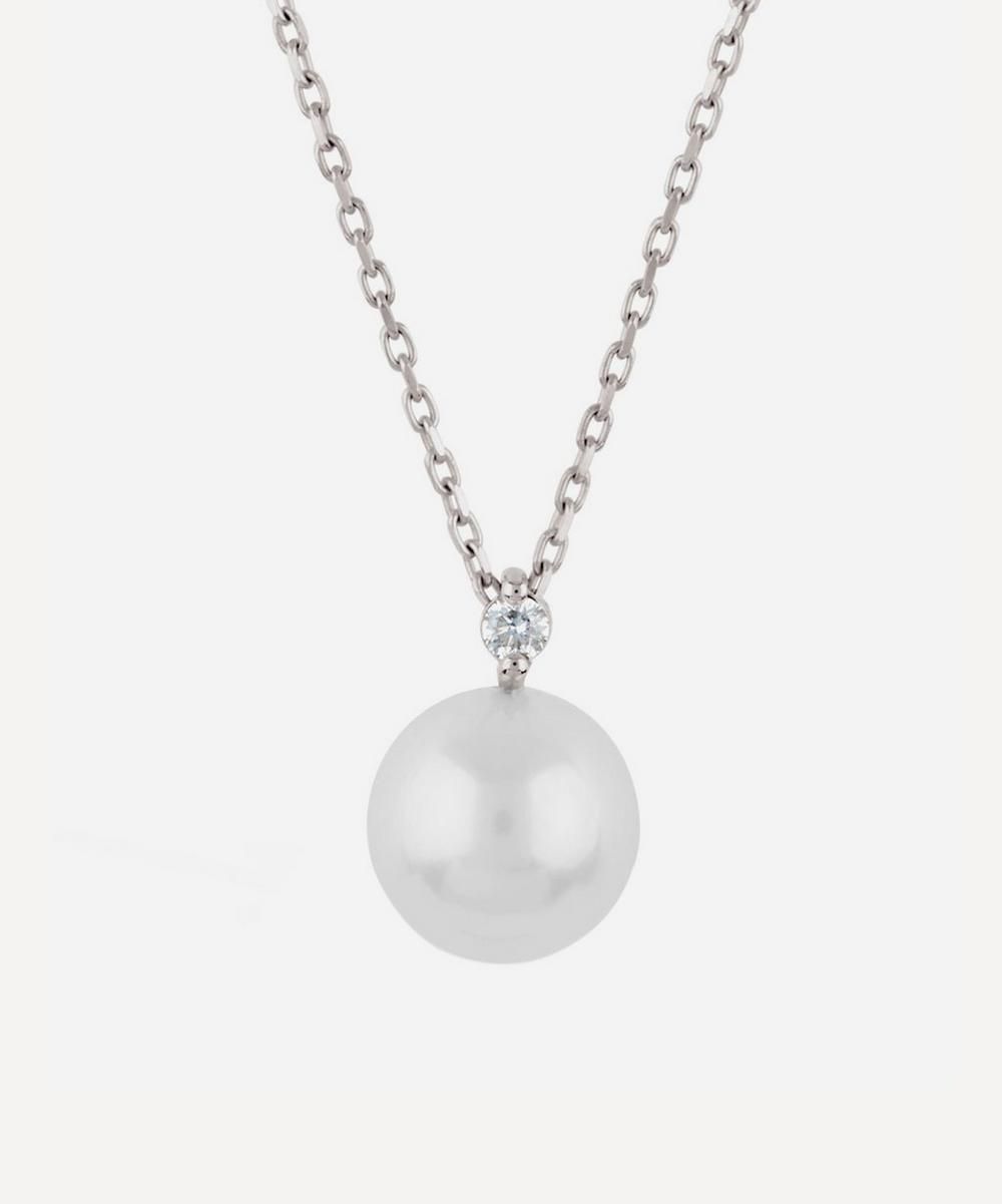 Dinny Hall - 14ct White Gold Shuga Pearl and Diamond Pendant Necklace