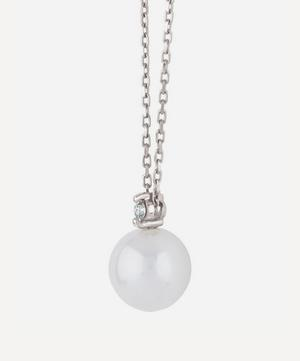 White Gold Shuga Pearl and Diamond Pendant Necklace