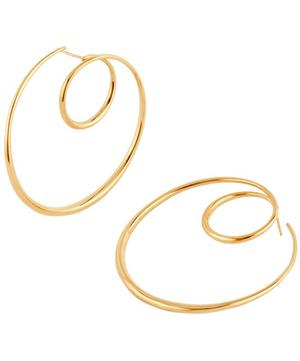Gold Vermeil Signature Large Swirl Hoop Earrings