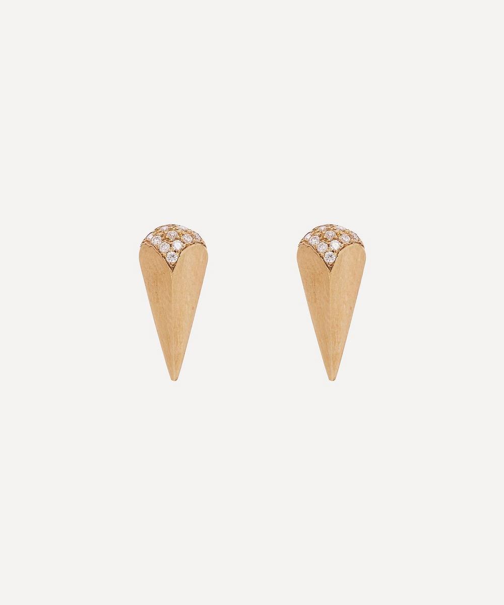 Gold Soraya Diamond Stud Earrings
