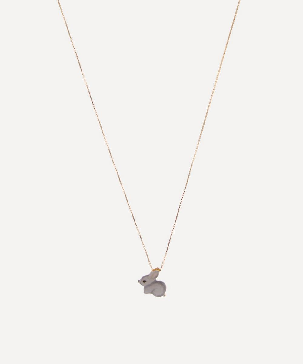 Atelier VM - 18ct Gold Coniglietto Enamel Rabbit Necklace