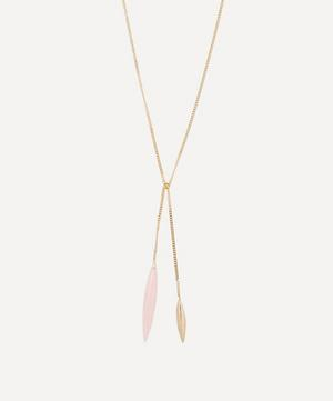 Gold Close To Me Rose Opal Necklace