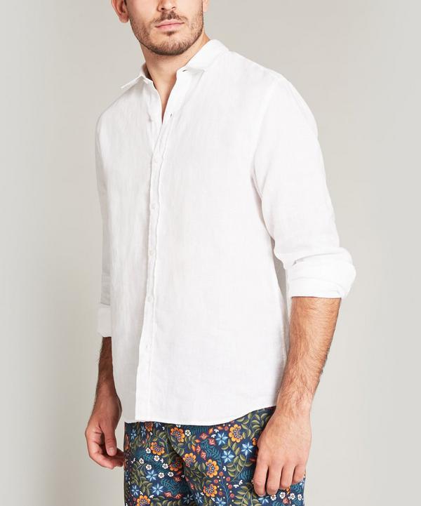 ee435fc839ca Plain Linen Long Sleeved Lasenby Shirt ...
