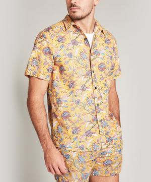 Damsa Linen-Blend Short Sleeved Lasenby Shirt