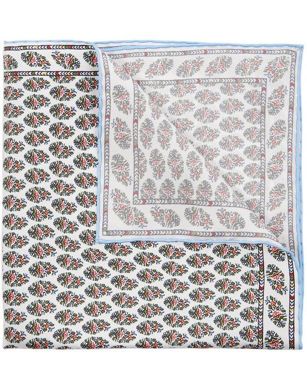 Oval Summer Wedding Printed Silk Pocket Square