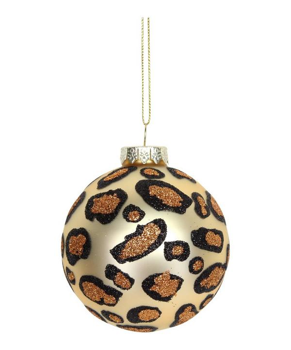 Gold Leopard Print Bauble
