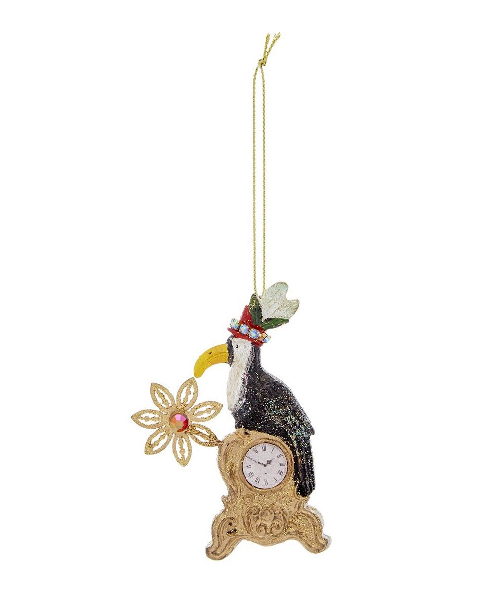 Resin Toucan on Clock Decoration