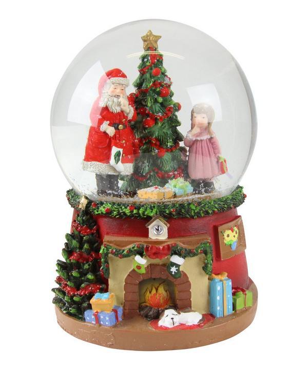 Father Christmas and Tree Musical Dome