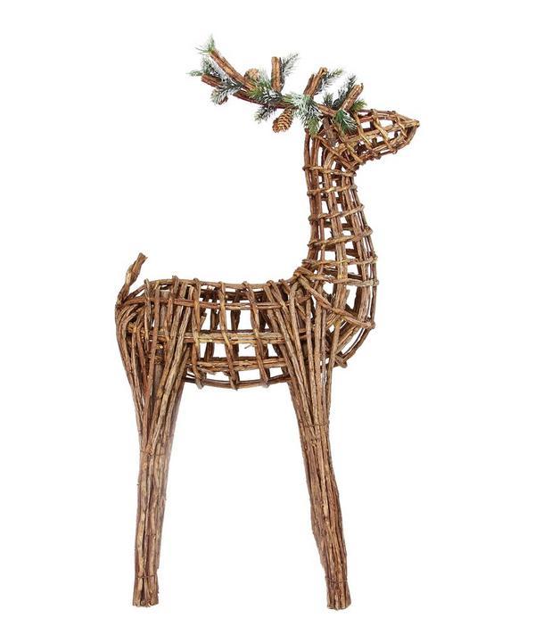 Large Twig Reindeer Decoration