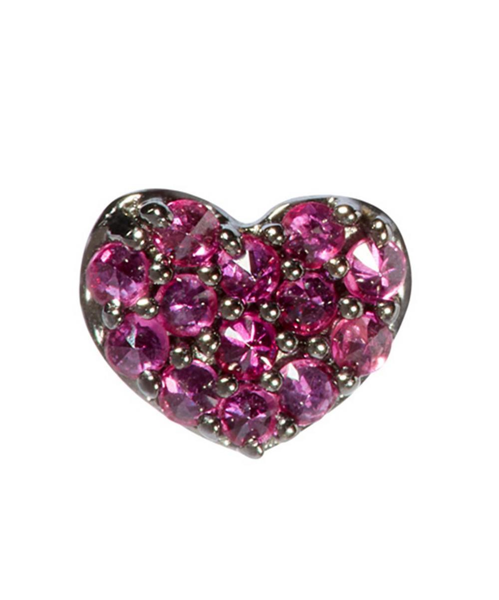 Annoushka Accessories 18CT WHITE GOLD LOVE DIAMONDS RUBY HEART SINGLE STUD EARRING