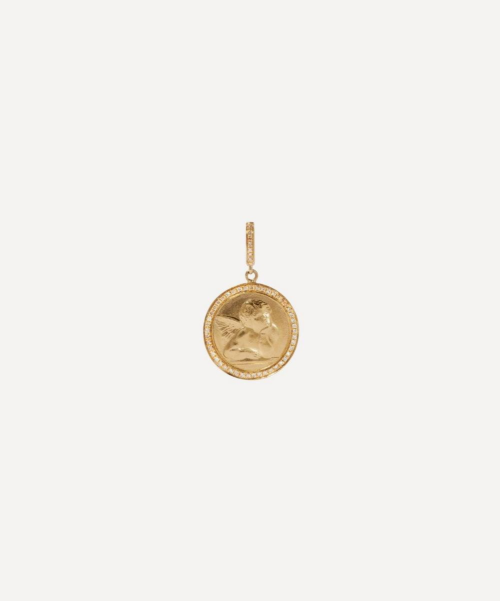 Annoushka Accessories 18CT GOLD MYTHOLOGY DIAMOND CHERUB CHARM