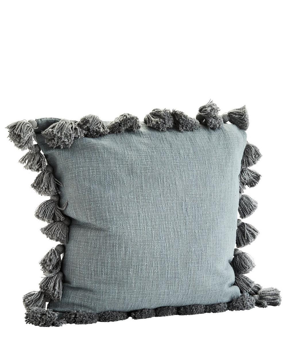 Tasselled Cotton Cushion