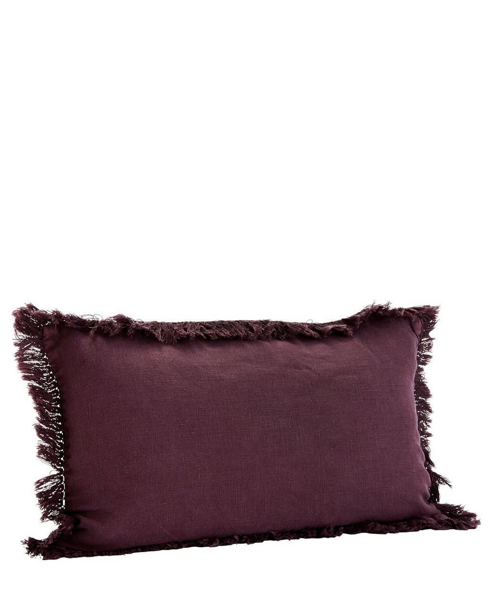 Fringed Linen Cushion