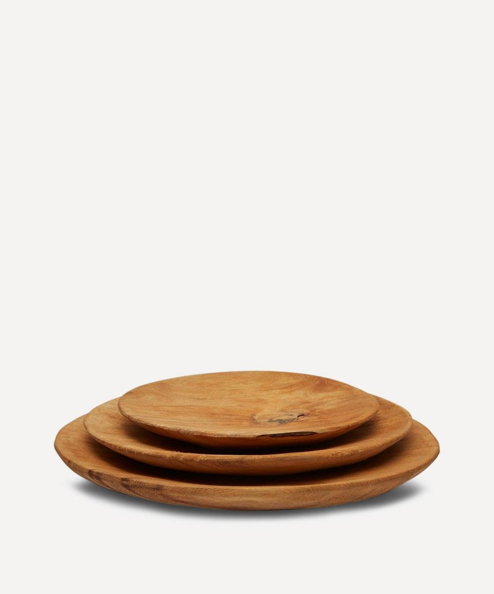 Wooden Serving Plates Set of 3
