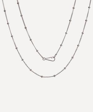 18ct White Gold Saturn Short Chain Necklace