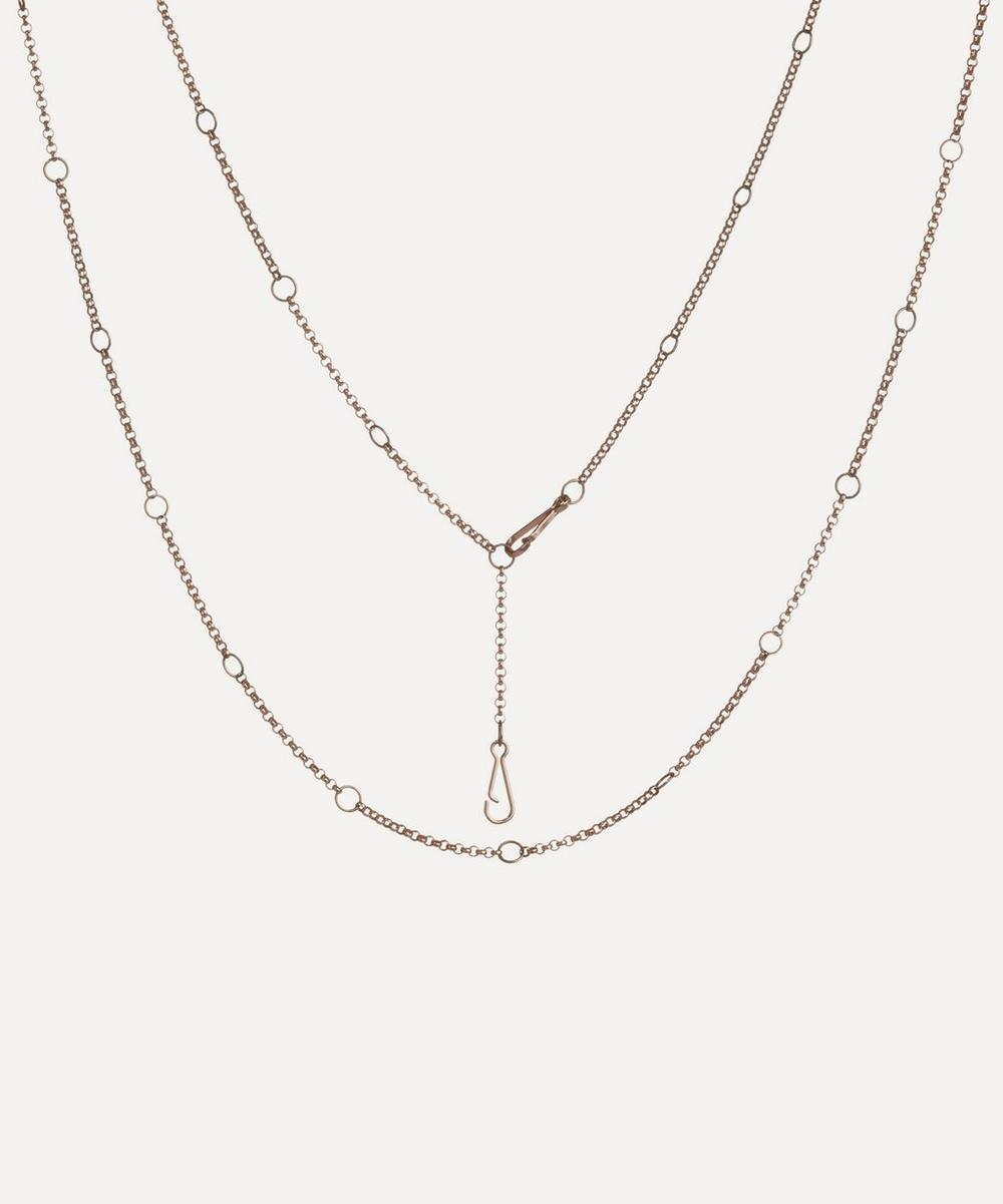 Annoushka Accessories 18CT ROSE GOLD HOOPLA LONG CHAIN NECKLACE