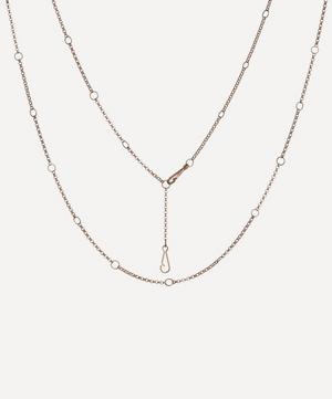 18ct Rose Gold Hoopla Long Chain Necklace