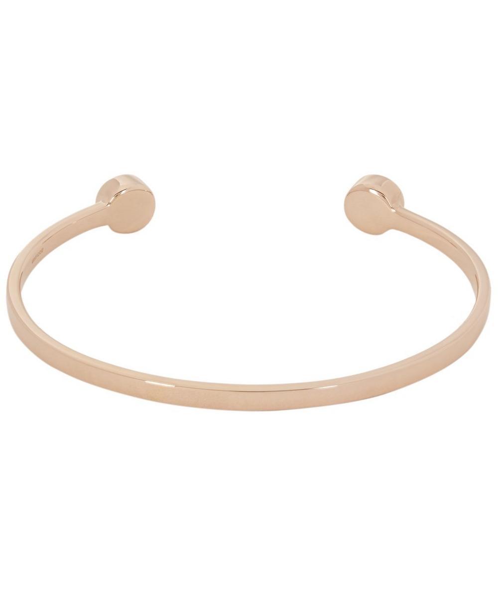 Rose Gold Vermeil Linear Solo Medium Diamond Cuff Bracelet