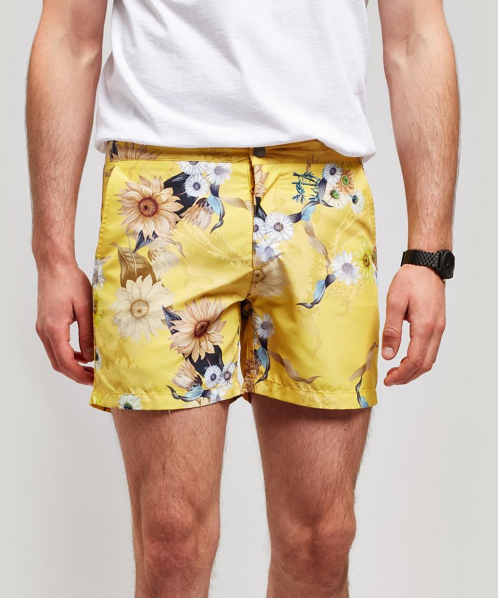 dcb0228f78 Buckler Sunshine Wave Flower Swim Shorts | Liberty London