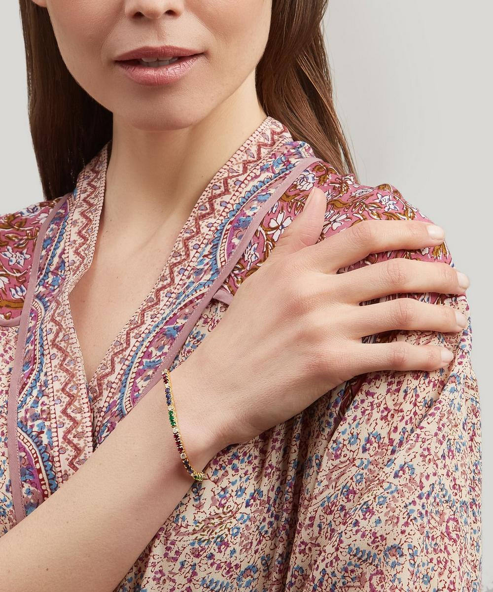 Gold Multi-Stone Line Bracelet