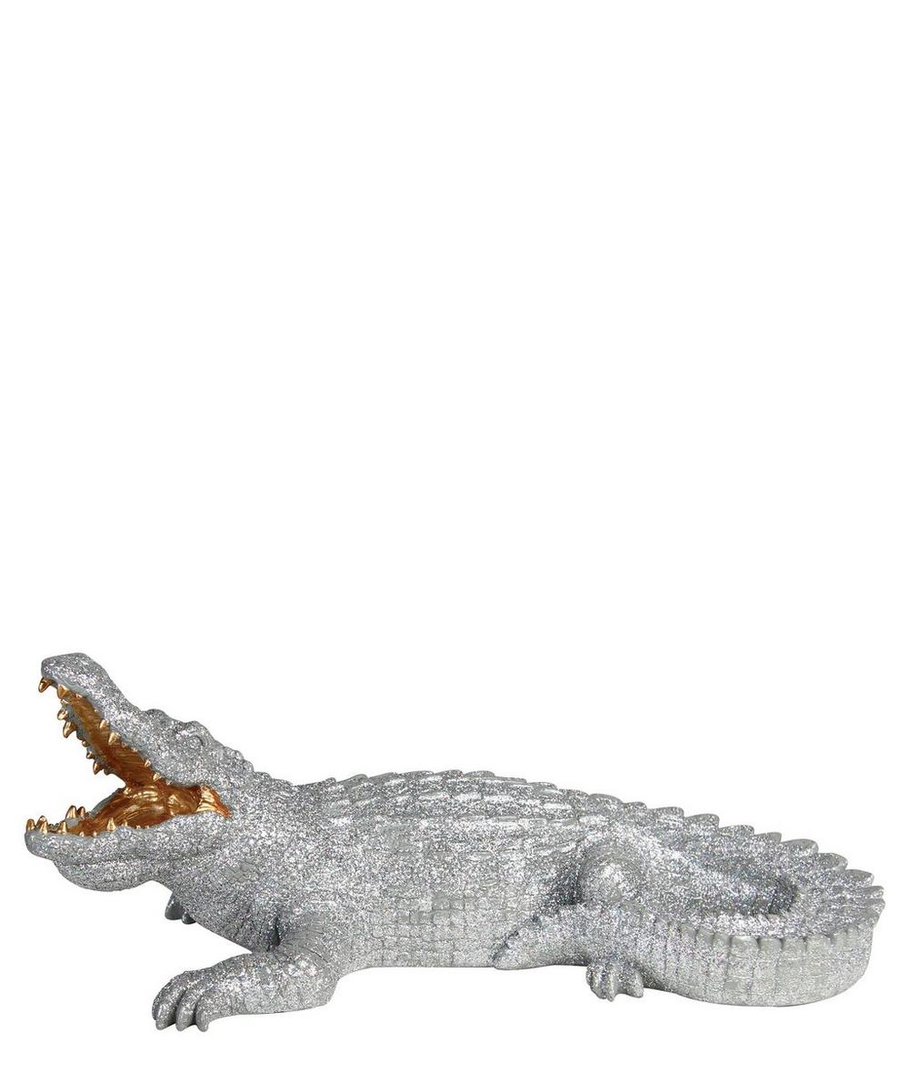 Glitter Crocodile Coin Bank