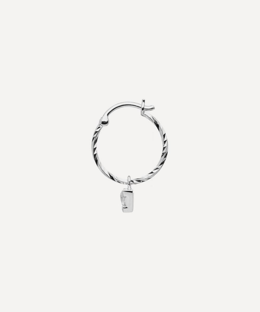 White Gold Vidi White Sapphire Hoop Earring