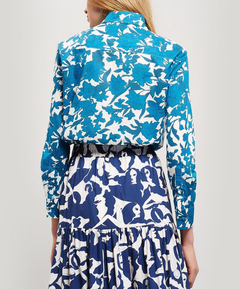 Voile Lilium Blu Cotton Shirt
