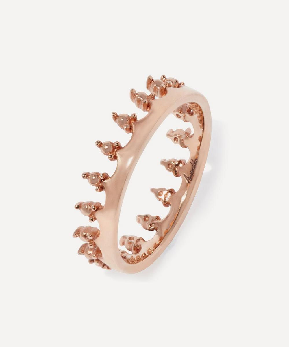 18ct Rose Gold Crown Ring