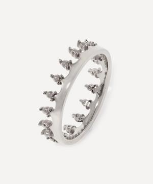 18ct White Gold Crown Ring