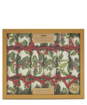 Holly Christmas Crackers Set of Six