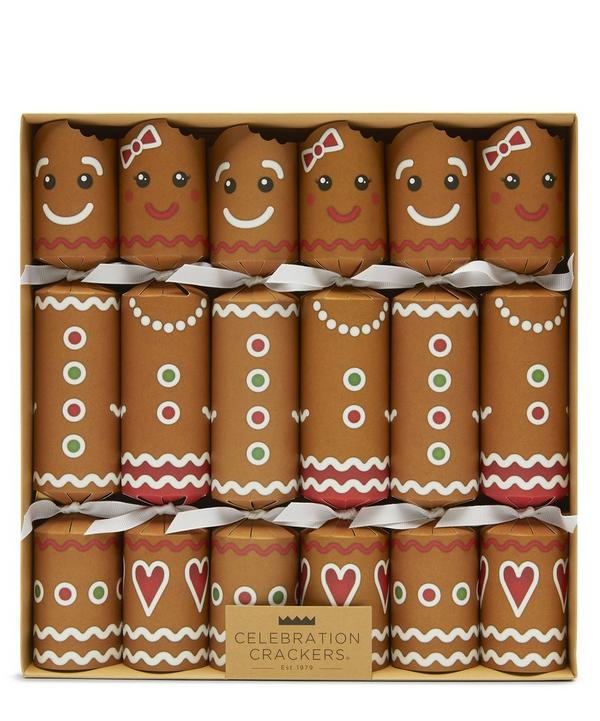 Gingerbread Christmas Crackers Set of Six