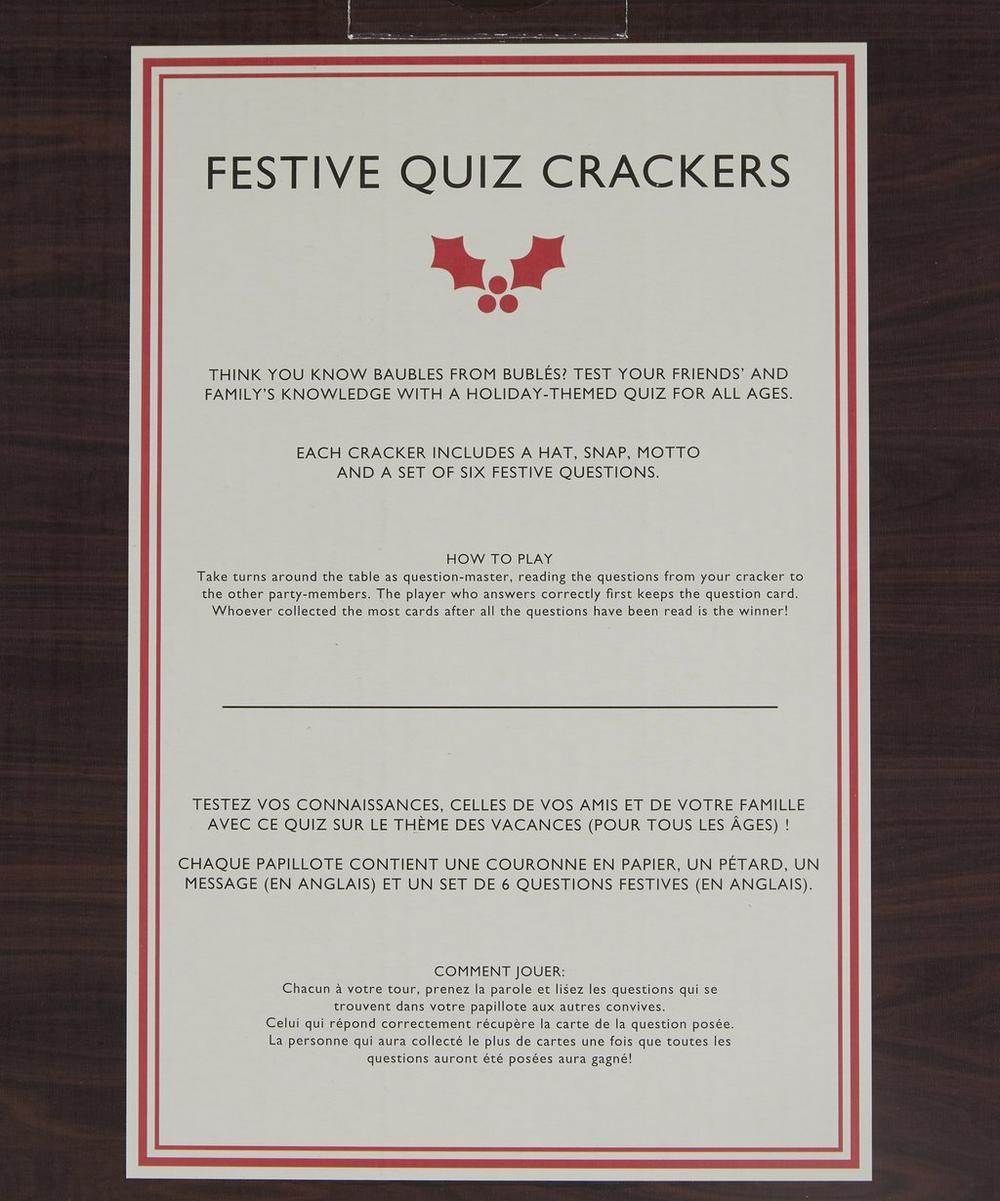 Ridley's Christmas Quiz Crackers   Liberty London