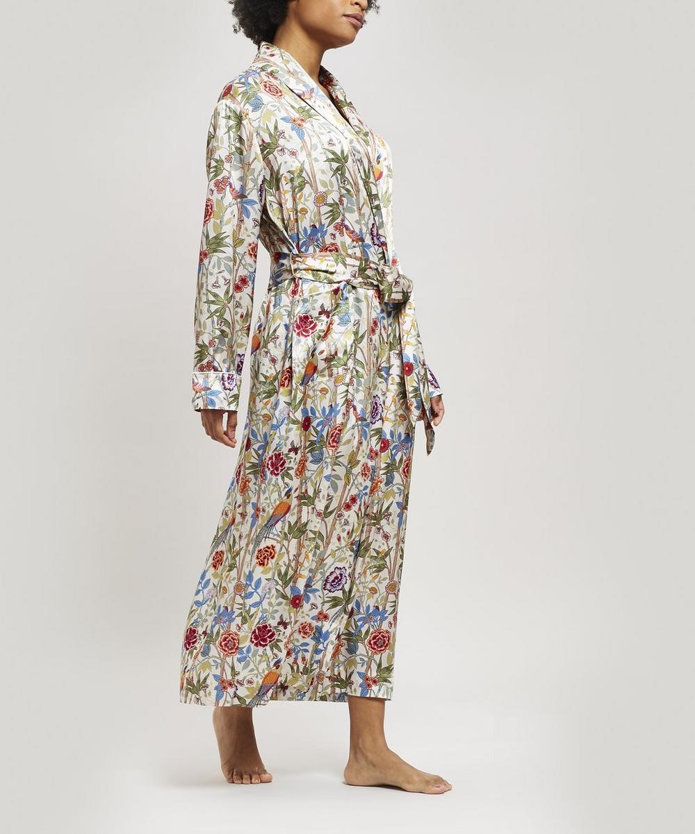 Bamboo Garden Silk Charmeuse Long Robe