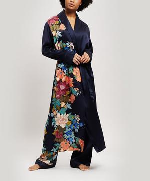 Sakura Silk Charmeuse Long Robe