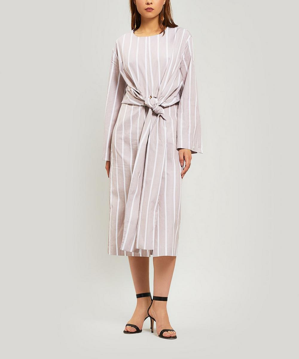 Twisted Striped Cotton Dress