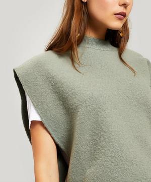 One Shoulder Wool Knit Sweater