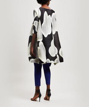 Melt Cloud Print Boat-Neck Dress
