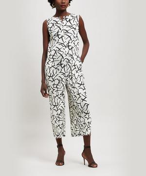 Hit Line Print Jumpsuit