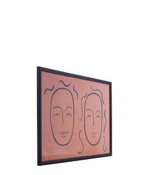 Coupled Faces Framed A3 Print